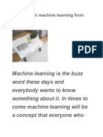 How to learn machine learning from scratch?