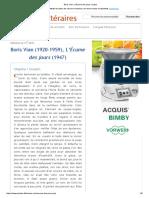 Boris Vian, L'Écume Des Jours, Incipit