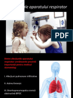 Afecțiuni Ale Aparatului Respirator - Stomatologie