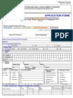 TESDA Application Form