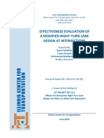 Effectiveness Evaluation of a Modified Right‐Turn Lane Design at Intersections