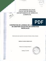 Contratos de Licencia de Las Entidades de Gestión Colectiva de Derechos Musicales