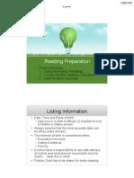 Reading Preparation