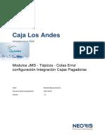 Modulos JMS - Tópicos - Colas Error Configuración Integración Cajas Pagadoras