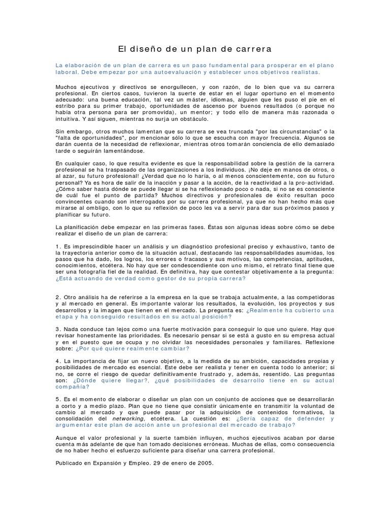El diseño de un plan de carrera.pdf