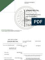 - Junior Recital Program