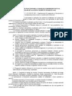 Regulamentul de Functionare a Consiliului Reprezentativ Al Parintilor