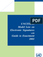 UNCITRAL Electronic Signature 2001