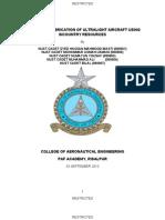 Design and Fabrication of Ultra Light Aircraft