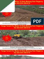 WA 083834366818,Harga Tanah Per Meter Di Batu Malang Sisir Regency