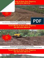 WA 083834366818,Tanah Murah Di Batu Sisir Regency