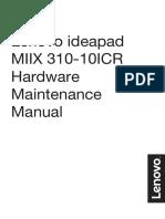 Manual de mantenimiento de Lenovo MIIX 310