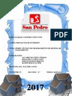 PERFIL TECNICO de Saneamiento Grupo 2