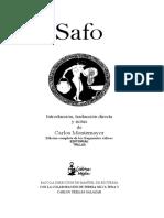 Safo - Poemas (intro, trad y notas de C. Montemayor) (ed. bilingüe).pdf