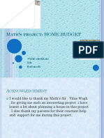 Icse x Maths Project on Home Budget