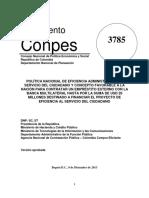 CONPES 3785 DE 2013