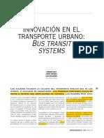 Innovacion en El Transporte Urbano(TRANSMILENIAL)