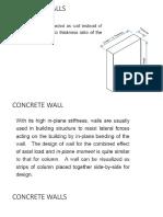 Design of Plain Concrete Wall