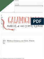 Galamigurumis Muñeca Gorjuss Con Osito. Patrón - Galamigurumis