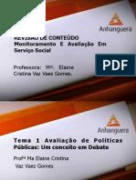 VA Monitoramento e Avaliacao Em Servico Social Aula 9 Revisao