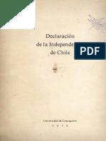 Acta de La Independencia de Chile - UdeC