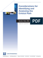 Long Intl Considerations for Identifying and Analyzing the Critical Path