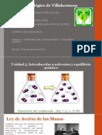 Unidad 5 Quimica Introducción a Solventes y Equilibrio Quimico