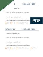 Listening 1 Hide and Seek