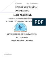 Auto Components Engineering Lab Manual