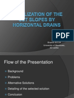 Slope Stabilization in Highways by Subsurface Horizontal Drains