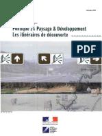 Politique 1% Paysage Et Développement - Les Itinéraires de Découverte