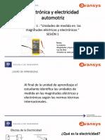 SESION 1 Electronica y Electricidad Automotriz
