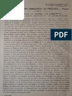 (a Cura Del) Gruppo Anarchico La Fiaccola - Ragusa, La Verità Vi Darà La Libertà. Sacre Botteghe-sacro Mercato e...Le Sacre Reliquie