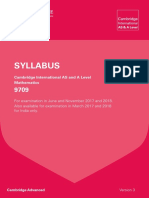 CIE a Level Mathematics Syllabus