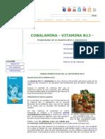 Cobalamina -Vitamina B12 -