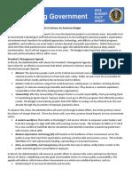 FY19 Budget Fact Sheet Modernizing Government
