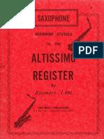 Altissimo Register