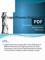 Legal Process Outsourcing- Ites