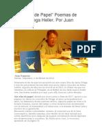 Con Alas de Papel, poemas de Jesús Ortega. Por Juan Cameron