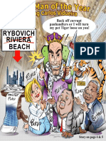 Palm Beach Sun 2016 Man of the Year Kng Carlos Cover Cartoon and Story