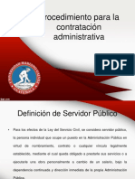 Procedimiento Para La Contratación Administrativa