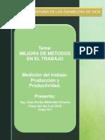 Metodos y Medidas Del Trabajo en La Produccion