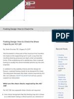 Footing Design
