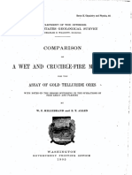Hillebrand W.F., Allen E.T.-comparison of a Wet and Crucible-fire Methods for Assay of Gold Telluride Ores