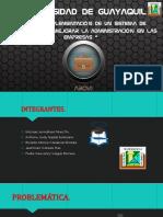 Diseño e Implementación de Un Sistema de Inventarios