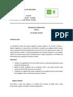 INFORME de Ley de Biot Savart