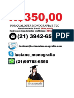 Monografia e tcc R$ 350,00   Camaçari