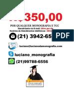 Monografia e tcc R$ 350,00   Natal