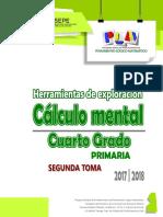 2o Exploración Febrero 2018 -Cálculo Mental- (4o Primaria)