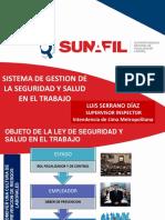 Sunafil Exposición Sgsst Dr Luis Serrano Diaz Dic 2017